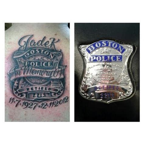 police badge tattoo dave tatoos ideas for
