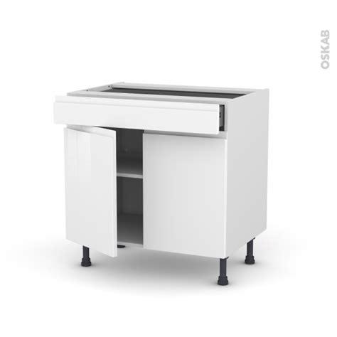 meuble de cuisine blanc brillant meuble de cuisine bas ipoma blanc brillant 2 portes 1