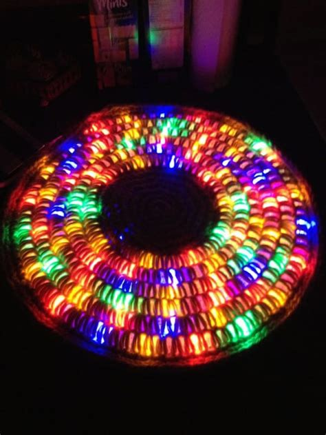 how to do lights with how to crochet a light up rug with led lights