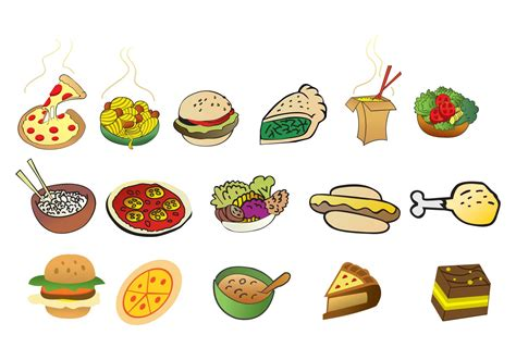 food vector cartoon foods download free vector art stock graphics