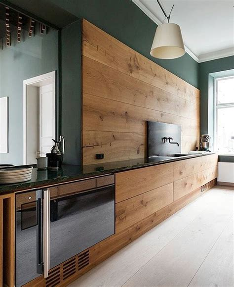 dark green kitchen cabinets modern kitchen with sleek walnut cabinets and dark green