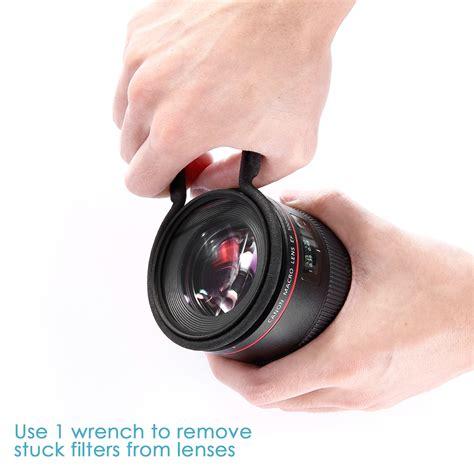Original Rubber 72mm Hitam Lens rubber coated metal lens filter remover wrench set kit ebay