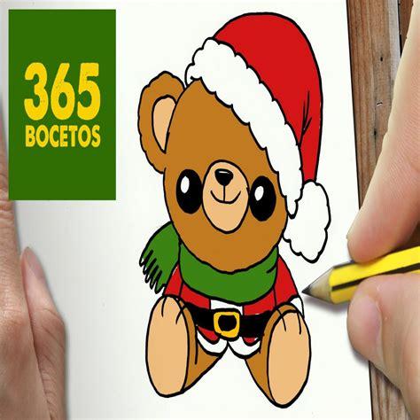 imagenes de la navidad kawaii o dibujar un oso para navidad paso a paso dibujos kawaii