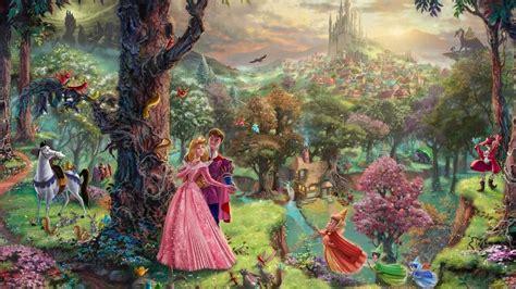 disney wallpaper thomas kinkade thomas kinkade quot disney dreams quot disney princess wallpaper
