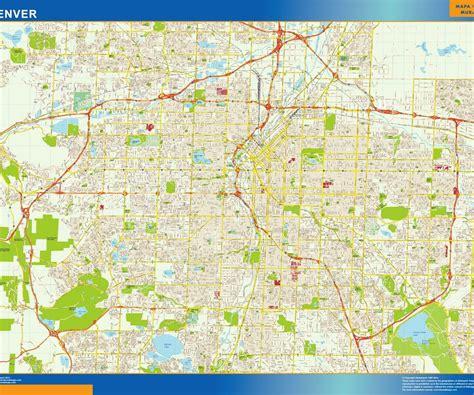 denver city map denver vector map eps illustrator vector city maps usa