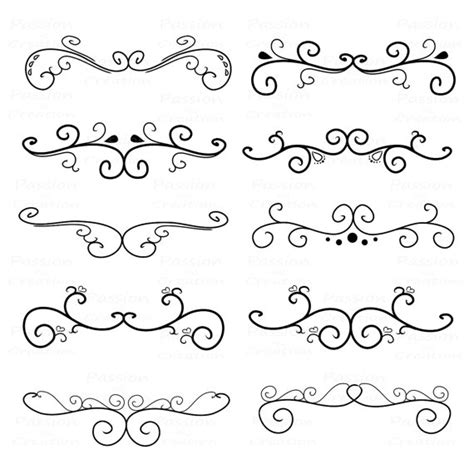tattoo font embellishments flourish swirls border calligraphy decorative