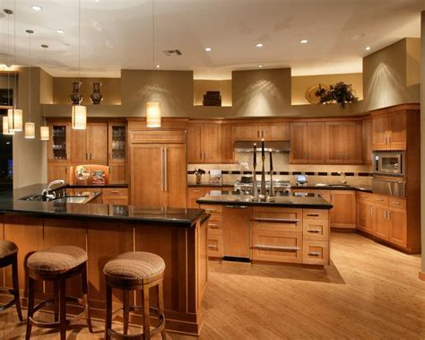 phoenix natural cherry kitchen modern with shaker style