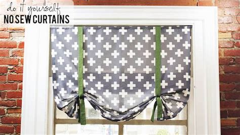 sewing pattern tie up curtains photos diy no sew curtain knock it off the live well