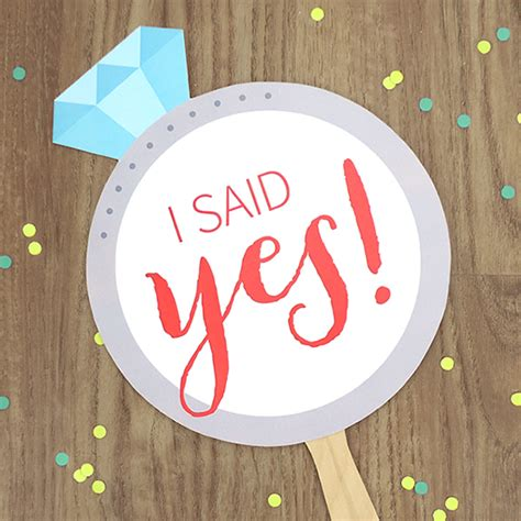 free printable engagement party decorations you ll crush on quot i said yes quot free printable signs