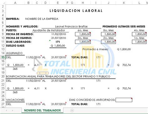 como hago para calcular la liquidacion de mi fideicomiso plantilla excel para el calculo de liquidaci 243 n y