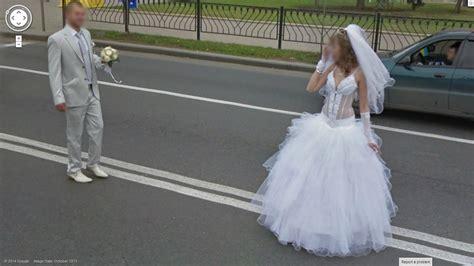 Google Wedding   odd place for a wedding photo google street view world