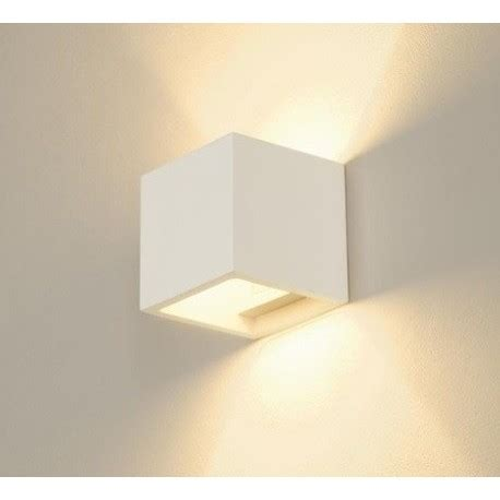 applique cubo clicson applique cubo in gesso verniciabile led 3w a bi