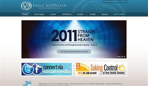 intern websites 60 of the best church website designs