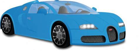cartoon bugatti blue bugatti veyron vector free download