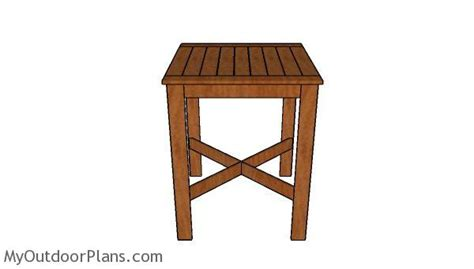 pub bench plans bistro table plans myoutdoorplans free woodworking