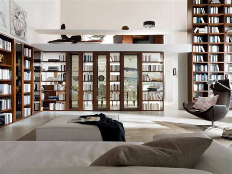 Home Library Interior Design Home Library Furniture Amazing White Home Library Design With Modern Wooden Bookcase Furniture