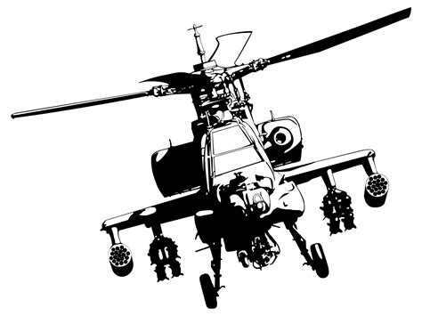 Helicopter Wall Stickers ah 64 apache by metaknecht on deviantart