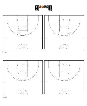 Basketball Court Diagrams Printable Basketball Court Templates Hoops U Basketball Drawing Basketball Plays Template