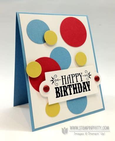 circle punches card ppa140 masculine birthday card stin pretty