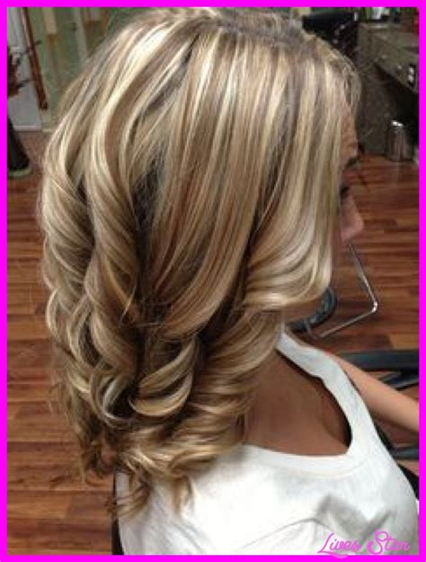 Pictures Of Blonde Hair With Dark Lowlights | blonde hair with dark brown lowlights livesstar com