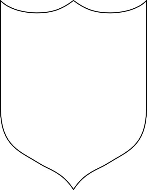 free shield template image blank crest shield template