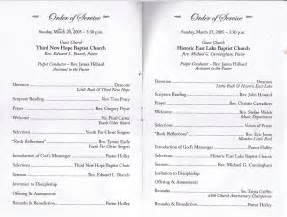 anniversary program template best photos of baptist church installation services