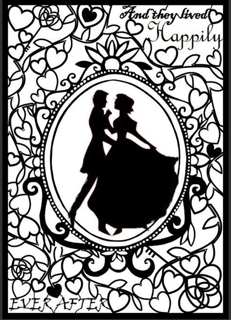 wedding papercut template paper cut template wedding fairytale template size a4