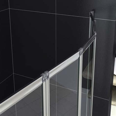 5 Fold 1200 X 5 fold 1200 x 1400mm folding shower bath screen over bath