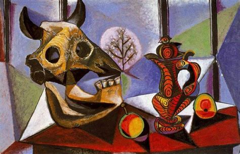 picasso paintings in order still with bull s skull artist pablo picasso