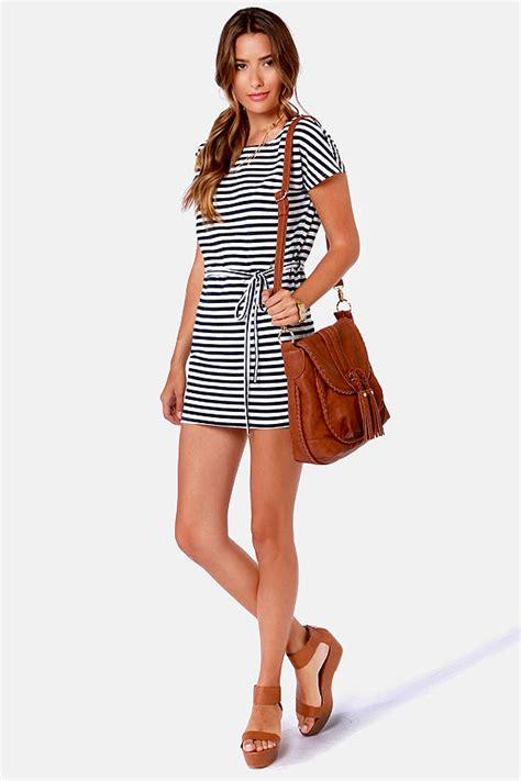 striped dress white dress navy blue dress 33 00