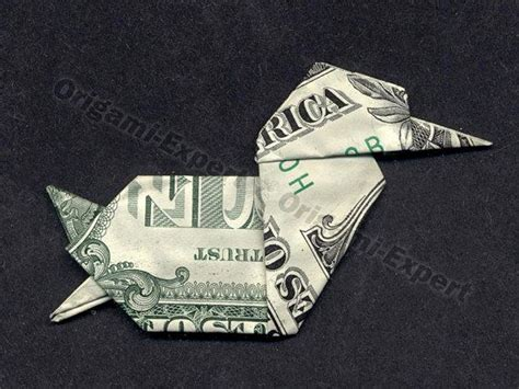 dollar bill origami duck great gift idea animal bird