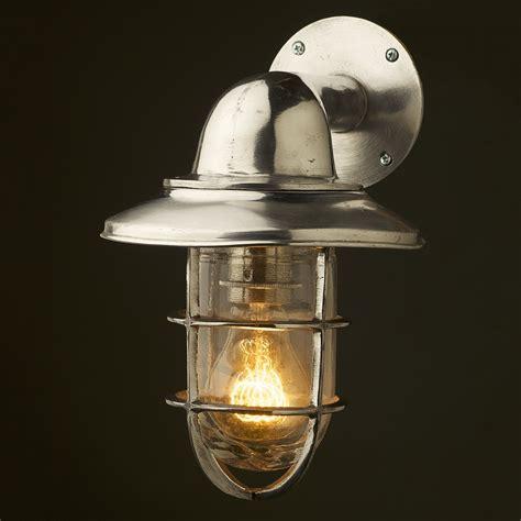 Vintage Ship Aluminum Shaded Bulkhead Wall Light Bulkhead Light Fixture