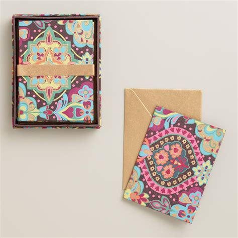 Handmade Moroccan Tiles - moroccan tiles handmade notecards set of 8 world market