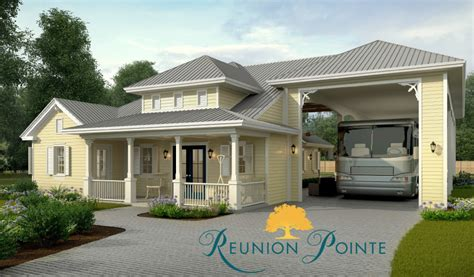 rv port home plans what s an rv port home reunion pointe