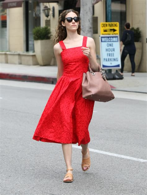 emmy rossum red dress emmy rossum in red dress out in beverly hills 05 06 2015
