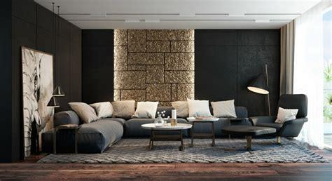living room colors and designs d 233 co salon noir et dore