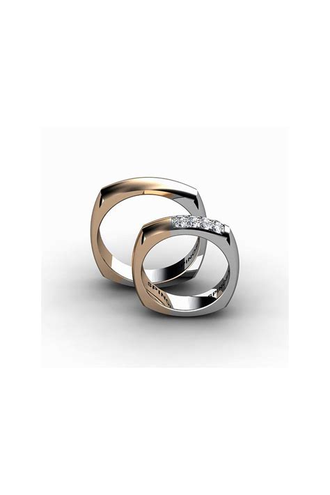 Shaped Wedding Ring by Modern Square Shaped Gold Wedding Ring