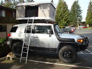 arb roof top tent on a stock rack toyota fj cruiser forum