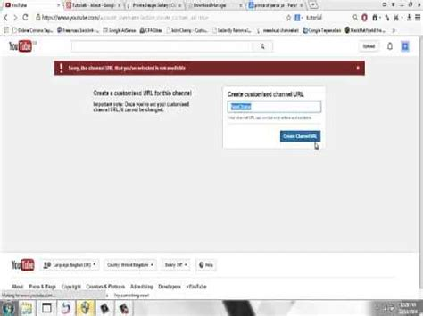 membuat url youtube tutorial6 cara membuat nama url channel youtube youtube