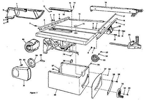craftsman table  parts diagram view ncwoodworkernet