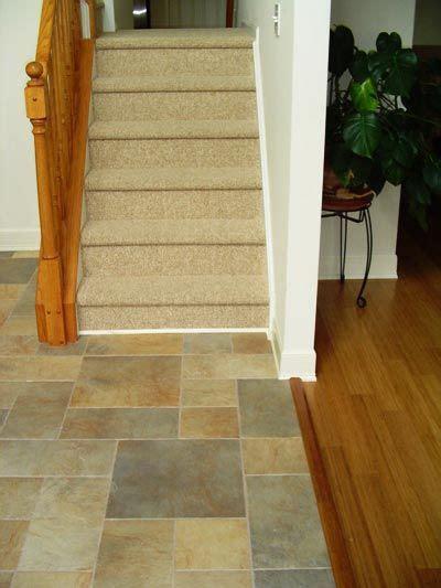 pebble flooring transition     , Mays Landing, NJ : Oak