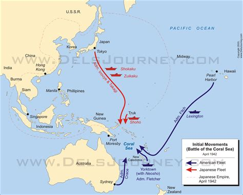 the coral sea the battle of the coral sea six great maps