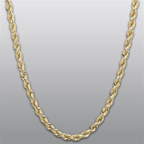 jewelry chain yellow gold 10k rope chain necklace