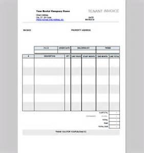tenant invoice template sample tenant invoice template