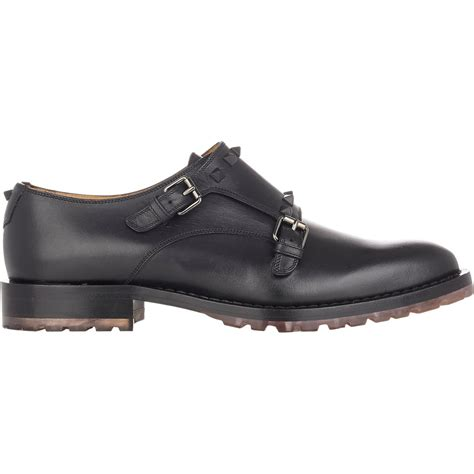 valentino rockstud monk shoes in black for lyst