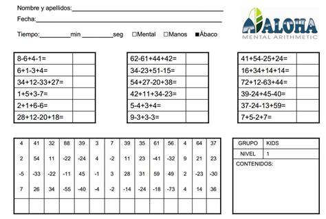 preguntas test operaciones basicas de laboratorio fichas para practicar c 225 lculo mental aloha mexico