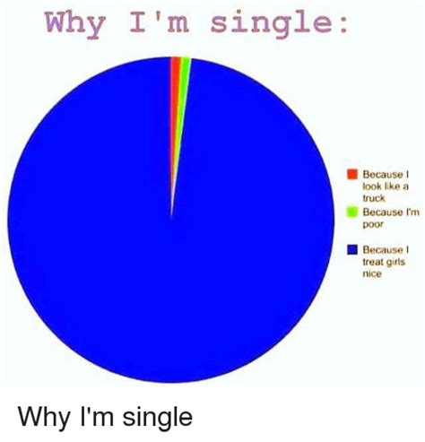 Because No One Likes Looking At by Why I M Single Because Look Like A Truck Because I M Poor