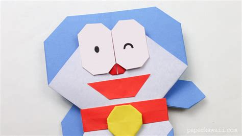 What Is Origami Paper - origami doraemon tutorial paper kawaii
