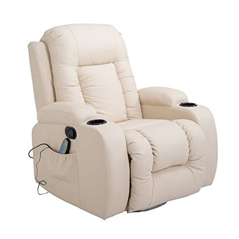 vibrating recliner homcom pu leather heated vibrating massage recliner chair