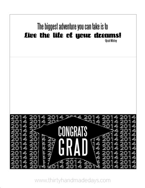 Graduation Gift Card Holder Template - updated printable graduation money card holder